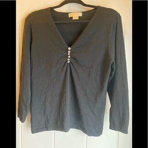Black v-neck sweater, XL